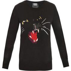 Markus Lupfer Intarsia Cat Sweater - Polyvore