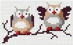 Save those thumbs Cross Stitch Owl, Just Cross Stitch, Cross Stitch Animals, Cross Stitch Designs, Cross Stitching, Cross Stitch Embroidery, Cross Stitch Patterns, Theme Noel, Knitting Charts