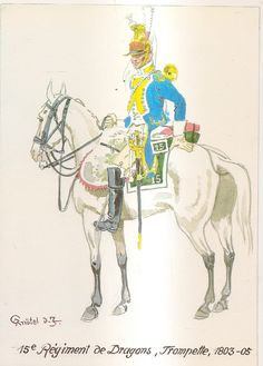 French; 15th Dragoons, Trumpeter, 1803-05 by H.Knotel