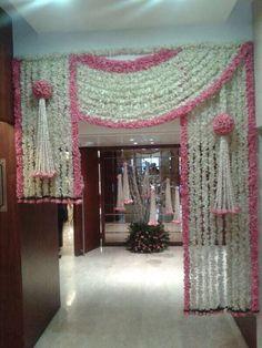 5 beautiful wedding entrance decorations for special day Marriage Decoration, Wedding Stage Decorations, Backdrop Decorations, Diwali Decorations, Flower Decorations, Parties Decorations, Backdrop Ideas, Decor Wedding, Wedding Themes