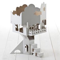 Cardboard treehouse!