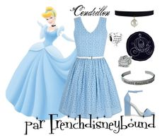 """Cendrillon (Cinderella)"" by frenchdisneybound ❤ liked on Polyvore featuring Nly Shoes, Yumi, Disney, disney, cinderella and disneybound"