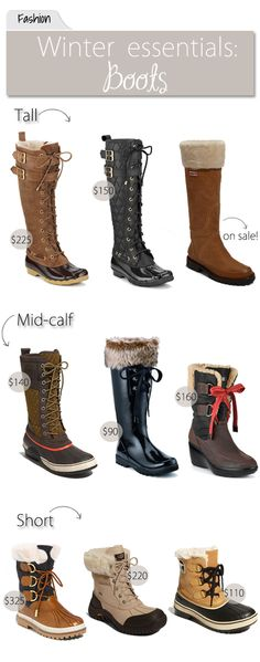 The Vault Files: Fashion File: Winter Essentials-Boots Classy Winter Outfits, Fall Outfits, Outfit Invierno, Snow Outfit, Winter Essentials, Winter Gear, Cold Weather Outfits, Nyc, Me Too Shoes