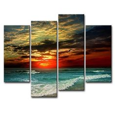 Decorating can be a daunting task, especially if you have a lot of rooms to do. There are ways to make it easier, and abstract multi panel wall art Beach Canvas, Large Canvas Wall Art, Beach Canvas Wall Art, Oil Painting Landscape, Painting, Photo Canvas Art, Canvas Painting, Seascape Paintings, Ocean Art