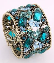 Accessories - Teal Jeweled Bracelet