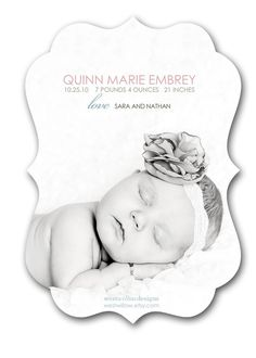 Birth Announcement - can also do ornate templates