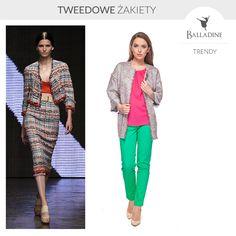 Tweedowe żakiety opanowały nowojorskie wybiegi (ten z pokazu Donny Karan na wiosnę 2015). Jeżeli jesteście ich fankami znajdziecie je również w naszym sklepie online i sklepach stacjonarnych. :)  Żakiet GaPa Fashion | http://goo.gl/Jxgwql