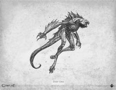 Loïc Muzy - Deep One - bestiaire Call of Cthulhu 7th edition - Éditions Sans-détour - Chaosium Inc - 2014