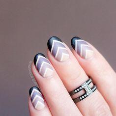geo-gradient nails