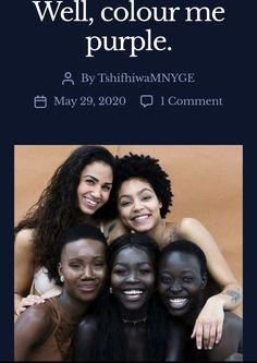 A discussion on Colourism and how it has influenced society. Social Issues, Wellness, Colour, Purple, Color, Viola, Colors