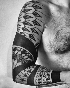 full sleeve black tattoos - Google Search