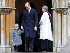 Prince William, the Duke of Cambridge (C) holds his son Prince George's hand as they leave following the morning Christmas Day service at St Mark's Church in Englefield, near Bucklebury in southern England, Britain, December 25, 2016. REUTERS/Andrew Matthews/Pool via @AOL_Lifestyle Read more: http://www.aol.com/article/entertainment/2016/12/27/prince-george-steals-the-show-on-christmas-with-his-adorable-ant/21642723/?a_dgi=aolshare_pinterest#fullscreen
