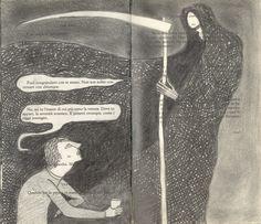 """Camilla Cazzaniga """"La ruota dentata di Akutagawa 6"""" matita su romanzo 2010"""