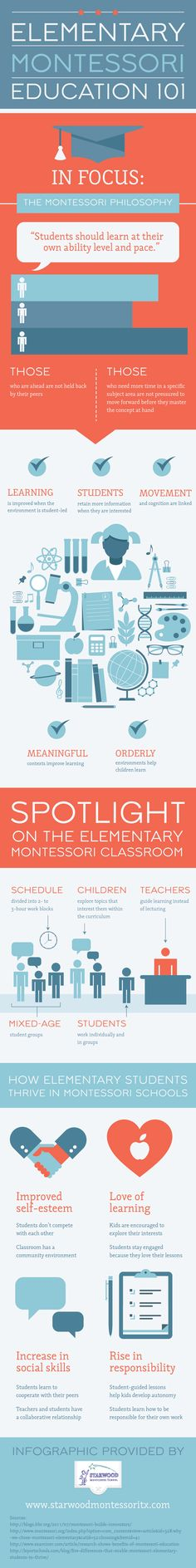 La educación según Montessori #infografia #infographic #education http://ticsyformacion.com/2014/09/12/la-educacion-segun-montessori-infografia-infographic-education/