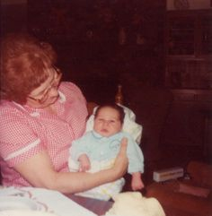 Mom and Andy Lakers (Frances Johansen & Andy Lakers when 10 days old)