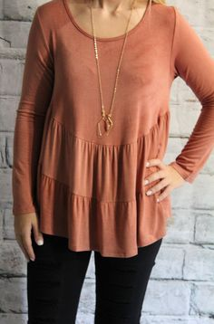 Our Marsala Tier Top is the perfect fit for any figure! 15% Net Profit donated to The Wellhouse- an organization that rescues women from human trafficking  SHOP NOW www.thread2911.com