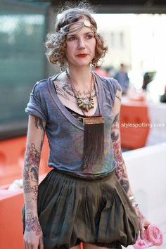 Our awesome friend Minka Sicklinger looks rad in the medium tribal spike pendant with quartz crystals