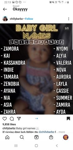 Pretty Baby Girl Names, Pretty Names, Cool Baby Names, Cute Names, Unique Baby Names, Cute Little Baby, Kid Names, Noms Snapchat, Baby Girl Names Uncommon
