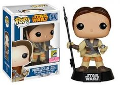 Funko Pop Star Wars 54 Princess Leia Boushh Unmasked 2015 SDCC
