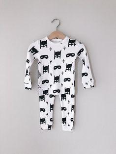 f0b2edf8b Organic Pajama Set - Hero Struck Modern Burlap Locale: Texas, USA Color:  Black