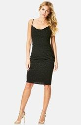 Laundry by Shelli Segal Embellished Drape Neck Sheath Dress