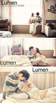 Casual home and lifestyle Korean wedding photography concepts