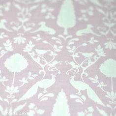 Peacock Hill Fabric in Pastel Violet 1 Peacock, Pastel, Rose, Fabric, Tejido, Cake, Pink, Tela, Peacocks