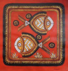 Must Art Gallery is the best among all art galleries in Delhi for Tribal Art Forms and Tribal and Folk Art Paintings in India. Visit our website and buy modern and contemporary art paintings. Tribal Pattern Art, Tribal Art, Madhubani Art, Madhubani Painting, Paintings Famous, Animal Paintings, Black Art Painting, Mural Painting, Watercolor Paintings