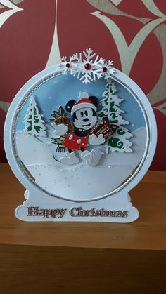 Well here is my first pre order without my friend Patricia. From now on it is just me with a little help from my husband Patrick. Walt Disney Mickey Mouse, Mickey Mouse Christmas, Christmas Cards To Make, Xmas Cards, Greeting Cards, Marvel Cards, Tattered Lace Cards, Disney Cards, Cricut Cards