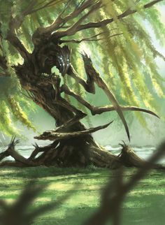 Creative with Mythology Monsters. My own take on Mythology Monsters for my Forever-taking project Mythika (Mythology RPG like Lufia/FF) Dark Fantasy Art, Fantasy Artwork, Fantasy Kunst, Fantasy World, Monster Art, Tree Monster, Monster Concept Art, Forest Creatures, Magical Creatures