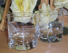 2 Cutty Sark Rocks Glasses Commemerative Whiskey by RamblinRanch