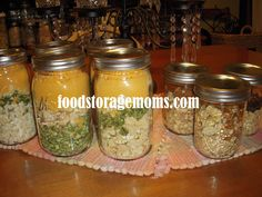 Food Storage Moms-Meals in a Jar for Breakfast  see the archive for August 6th, 2012 over at foodstoragemoms  I like how she does more than egg dishes, but her way to make various flavored oatmeal in a jar is great.
