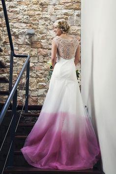 Love the ombre AND sparkle back on this dress! | SouthBound Bride www.southboundbride.com Credit: Bianca Asher | Dress: Elbeth Gillis