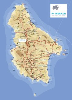 Thasos road map Maps Pinterest Greece islands