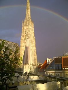 Stephansdome from the DO & CO Hotel Vienna on a rainny day.