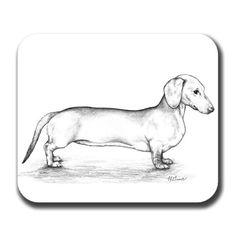Dachshund Mousepad, Mouse Pad, Dog Mousepad