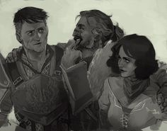 """theminttu:  """"You're looking scrawny, Carver. Do the Grey Wardens not feed you at all?"""" I got to thinking about the Hawke siblings and how Everything Is Fine :—-)"""