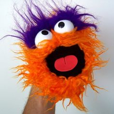 Gumball Monster  Raggedy Orange by banjopuppets on Etsy