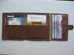 Trifold Magazine Holder  Brown by Leatherworks2 on Etsy, $32.00