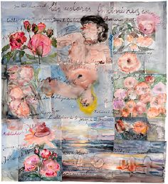 Anselm Kiefer   Les extases féminines (The Feminine Ecstasies), 2013   Watercolor on paper   65 3/4 × 60 5/8 inches (167 × 154 cm)   © Anselm Kiefer      Photo by Georges Poncet