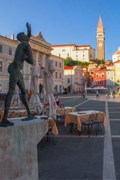 Tartini Square in Piran, Slovenia.