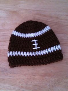 Crochet Baby Hat Football beanie infant photo prop by GoingCrafty, $10.00