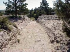 Old Wagon Wheel Ruts on the Oregon Trail still exist today.
