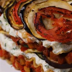 Ratatouille Lasagna // #lasagna #vegetables #pasta