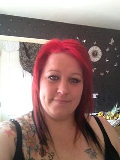 Me with red and black hair