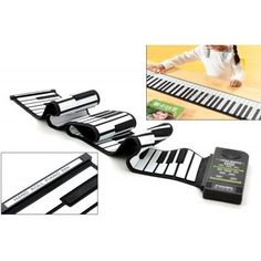 Flexible Roll Up Synthesizer Keyboard Piano with 88 Soft Keys and a loud built-in speaker for simple musical enjoyment.