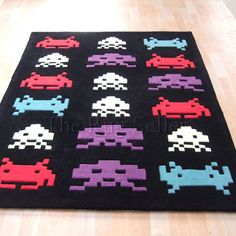 E Invader Rugs In Black With Shipping To The Us Clearance