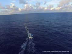 Photo sent from the boat Foresight Natural Energy, on January 25th, 2017 - Photo Conrad Colman envoyée depuis le bateau Foresight Natural Energy le 25 Janvier 2017 - Photo Conrad Colman Alone in the Atlantic (Drone photo)