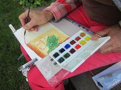 Cours d'aquarelle au jardin :-)  https://www.facebook.com/profile.php?id=100004724269368