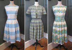 Vintage 1950s spring dresses